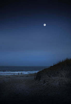 Plum Island Moon Art Print