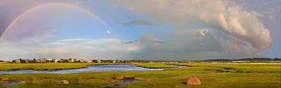 Mixed Media - Plum Island Rainbow by John Brown