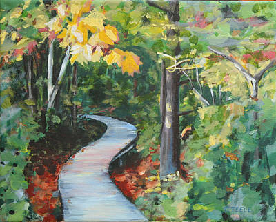 Painting - Plum Island Walkway by Trina Teele