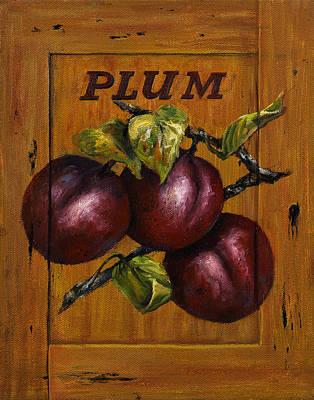 Box Wine Painting - Plum by Lynne Pittard