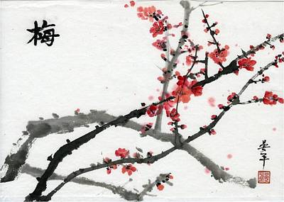 Painting - Plum  by Ping Yan