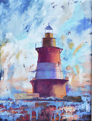 Painting - Plum Point Lighthouse by Julie Brayton