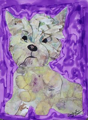 West Highland White Terrier Mixed Media - Plum Pup by Rachelle Eason