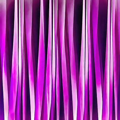 Digital Art - Plum Purple And Burgundy Stripy Lines Pattern by Tracey Harrington-Simpson