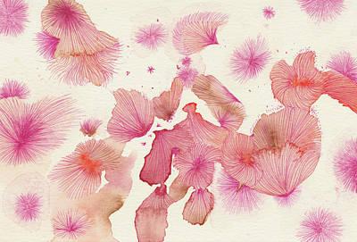 Plum Trees - #ss16dw017 Art Print by Satomi Sugimoto