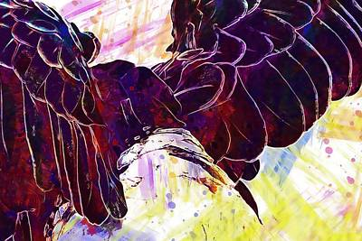 Digital Art - Plumage Bald Eagle  by PixBreak Art