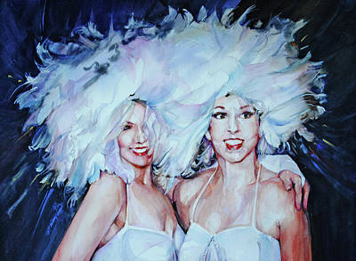 Ladies Of The Chorus Painting - Plumage by P Anthony Visco