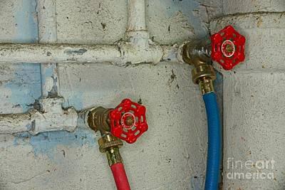 Wash Basins Photograph - Plumbing Hot And Cold Water by Paul Ward