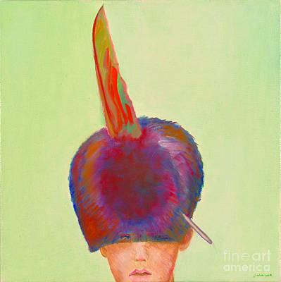 Painting - Plume Dans Le Chapeau by Krzis-Lorent Frederique