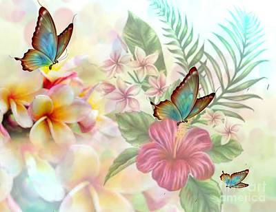 Digital Art - Plumeria Dreams by Maria Urso