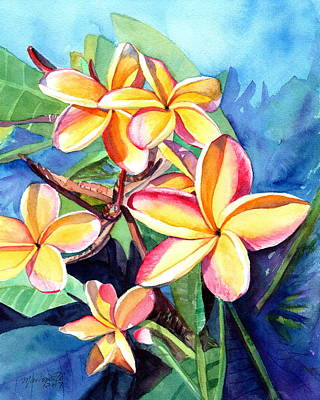 Painting - Plumeria Fever by Marionette Taboniar