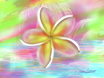 Digital Art - Plumeria Paradise by Dani Abbott