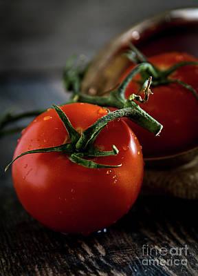 Photograph - Plump Red Tomatoes by Deborah Klubertanz