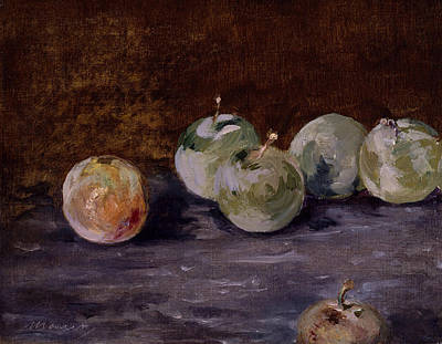Painting - Plums by Edouard Manet