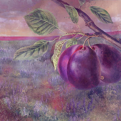 Digital Art - Plums by Jeff Burgess