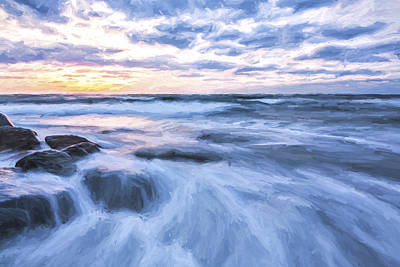 Plunge Into The Blue II Art Print by Jon Glaser