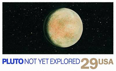 Pluto Not Yet Explored Art Print
