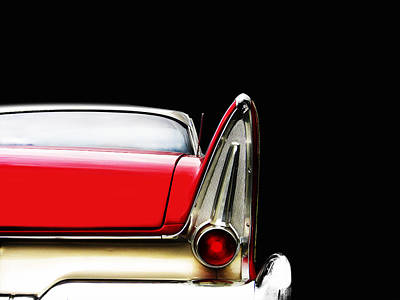 Tail Fin Photograph - Plymouth Fury Fin Detail by Mark Rogan