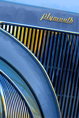 Photograph - Plymouth Grille by Jill Reger