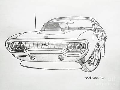 Plymouth Gtx American Muscle Car - Original Original
