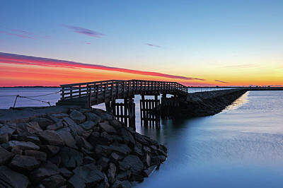 Photograph - Plymouth Harbor Jetty by Juergen Roth