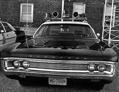 Plymouth Police Car Art Print