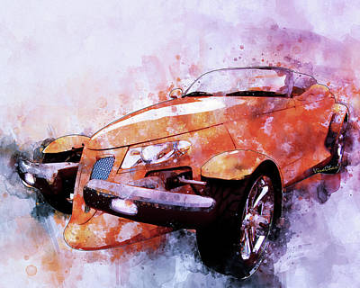 Digital Art - Plymouth Prowler Being All She Can Be by Chas Sinklier