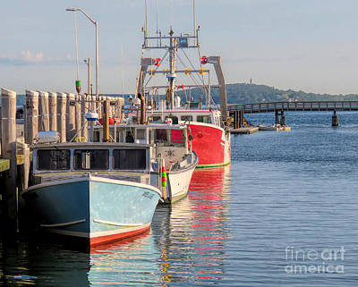 Photograph - Plymouth Red White And Blue by Janice Drew
