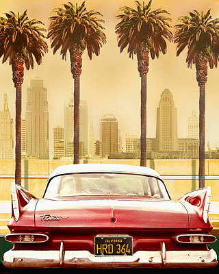 Plymouth Savoy With Palm Trees Art Print by Larry Butterworth