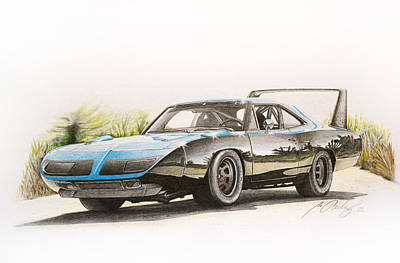 Plymouth Superbird 1970 Art Print