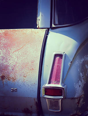 Photograph - Plymouth Tail Light by Heidi Hermes