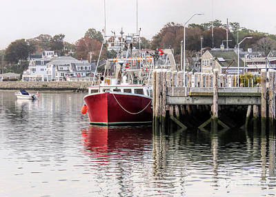 Photograph - Plymouth Town Harbor  by Janice Drew