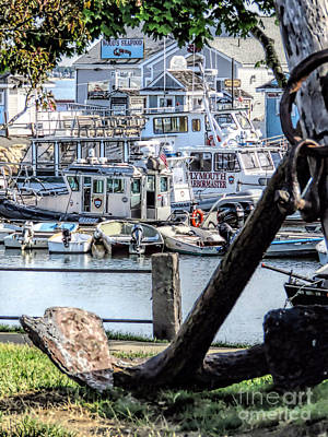Photograph - Plymouth Town Wharf  by Janice Drew