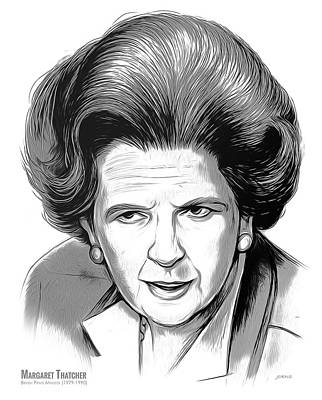 Mixed Media Royalty Free Images - PM Margaret Thatcher Royalty-Free Image by Greg Joens