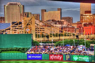 Photograph - Pnc Park And Roberto Clemente Bridge by David Bearden