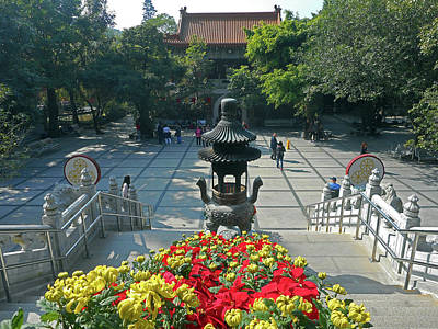 Photograph - Po Lin Monastery 9 by Ron Kandt
