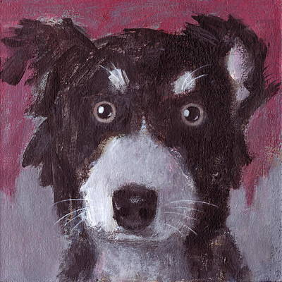Painting - Po The Dog by Kazumi Whitemoon