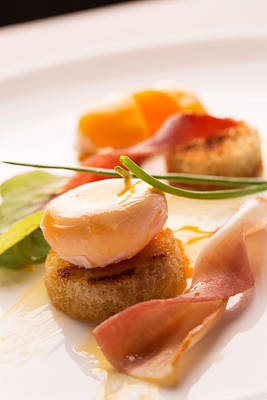 Poached Egg With Fresh Salad Art Print by Vadim Goodwill