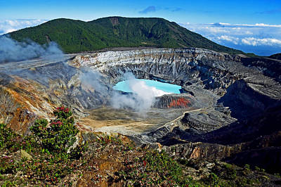 Photograph - Poas Volcano by T Guy Spencer