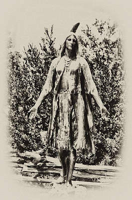 Indian Princess Photograph - Pocahontas by Bill Cannon