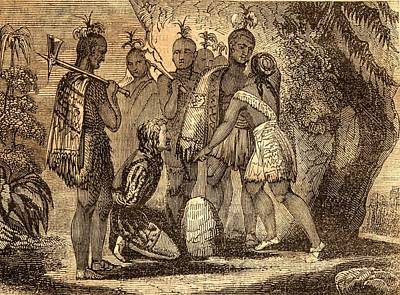 Indian Princess Drawing - Pocahontas Interceding For The Life Of by Vintage Design Pics