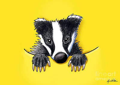 Digital Art - Pocket Badger by Kim Niles