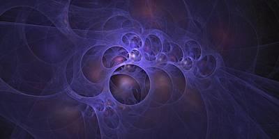 Digital Art - Pocket Universe Blue by Doug Morgan