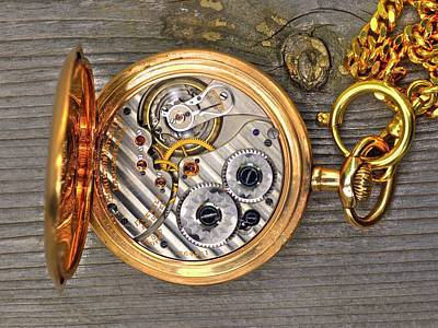 Photograph - Pocket Watch 2 by Lawrence Christopher