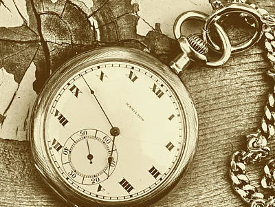 Photograph - Pocket Watch 3 by Lawrence Christopher