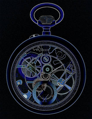 Digital Art - Pocket Watch Nightwatch by James Barnes