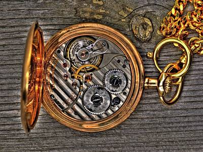 Photograph - Pocket Watch1 by Lawrence Christopher