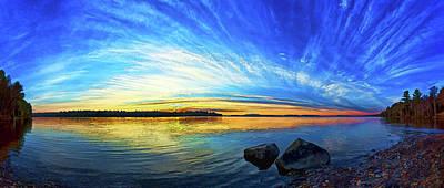 Manipulation Photograph - Pocomoonshine Sunset 1 by ABeautifulSky Photography
