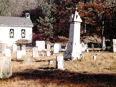 Painting - Pocono Cemetery by Paul Sachtleben