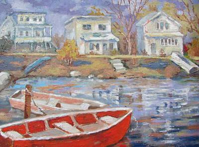 Painting - Pocono Lake by Tony Caviston